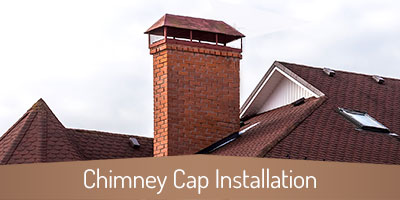 Chimney Cap Installation - Chattanooga TN - Copper Top Chimney Service